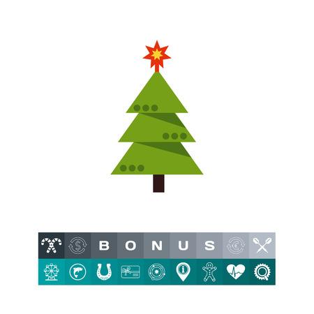christmas tree illustration: Decorated Christmas tree Illustration