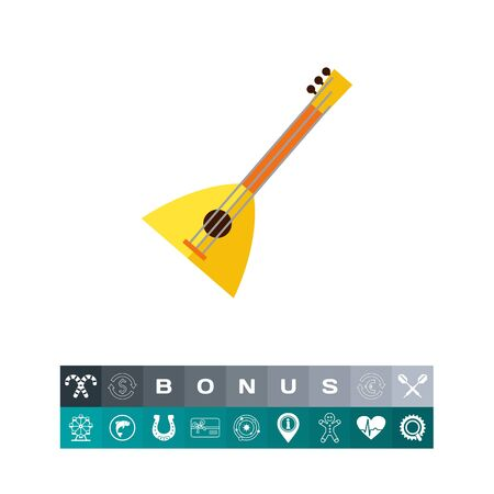 accord: Balalaika Vector Icon, a Russian musical instrument illustration