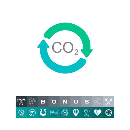 Carbon dioxide cycle chemical element formula