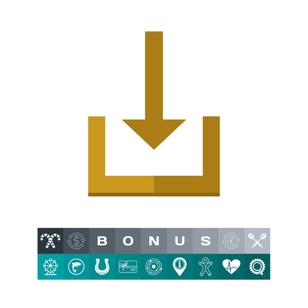 Download conceptual with arrow design icon, isolated in white Illustration