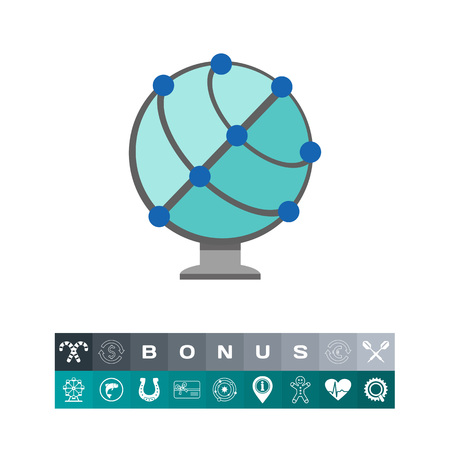 Earth globe element design for educational, isolated