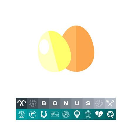 Eggs icon colorful illustration, isolated o white