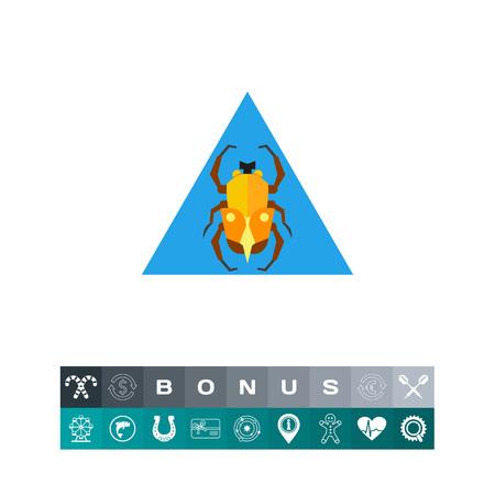 Egypt Scarab Icon in a triangular design illustration Illustration