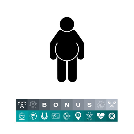 Fat Person Icon