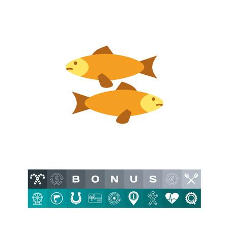 Fish icon illustration.