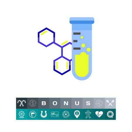 reagent: Flask and Molecular Structure Icon