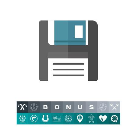 Floppy disc icon Illusztráció