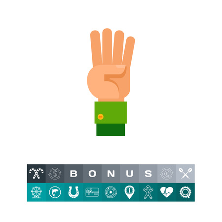 sleeve: Four Fingers Up Icon