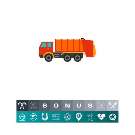 removing: Garbage truck icon