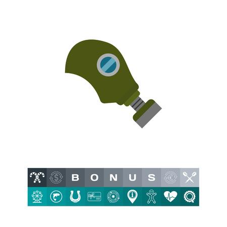 poison symbol: Gas mask icon
