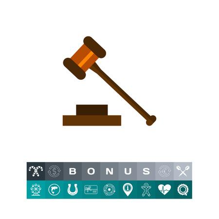 punish: Gavel Flat Icon