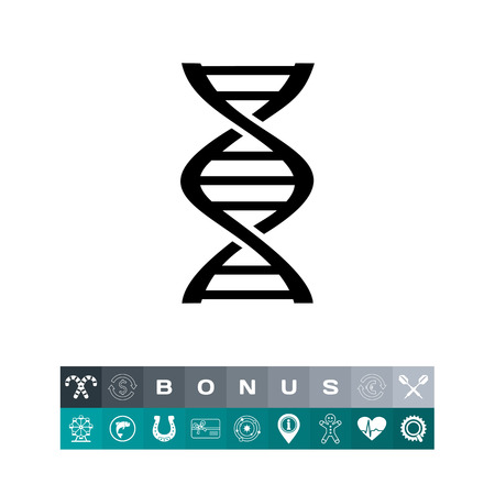 Genetics simple icon