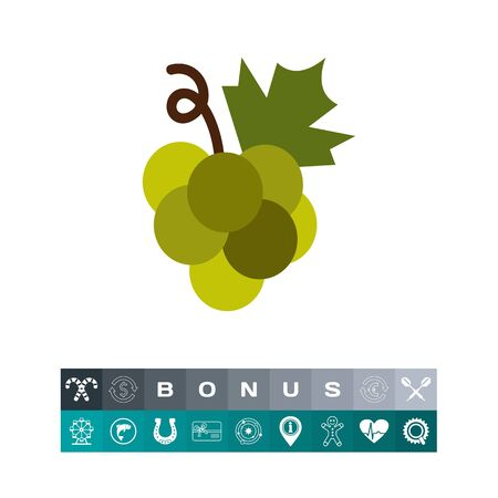 Green grape bunch icon