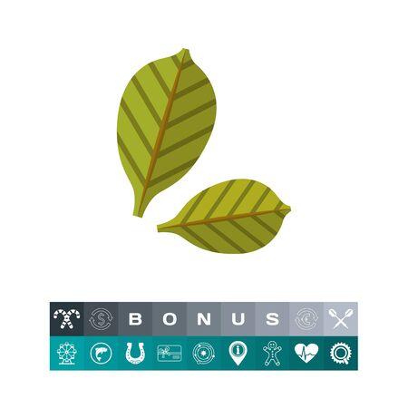 Green leaves icon 2 Illustration