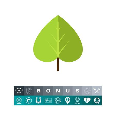 Green linden leaf Illustration