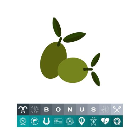 Green olives icon
