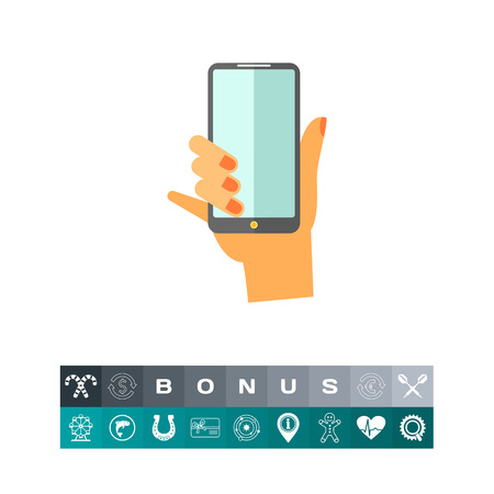 touch screen phone: Hand holding smartphone. Touchscreen, modern, expensive. Smartphone concept. Can be used for topics like communication, technology; gadgets.
