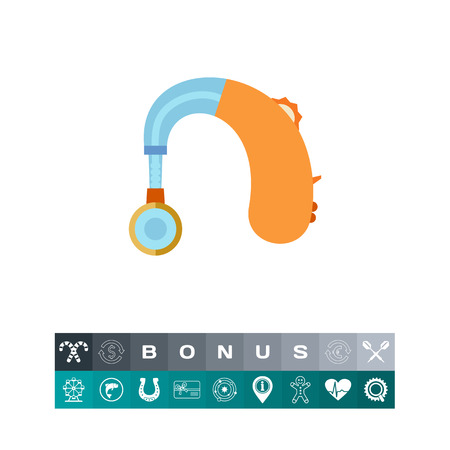 Hearing Aid apparatus, flat icon