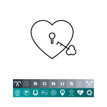 Heart lock with key Illustration