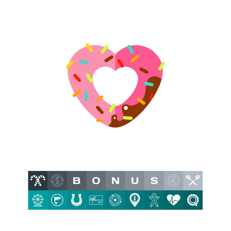 Heart Shaped Donut Icon