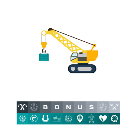 Hoisting crane icon Illustration
