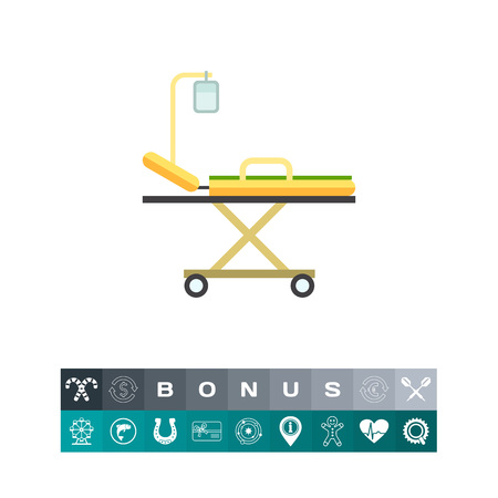 Hospital Bed Icon Stock Vector - 83479583
