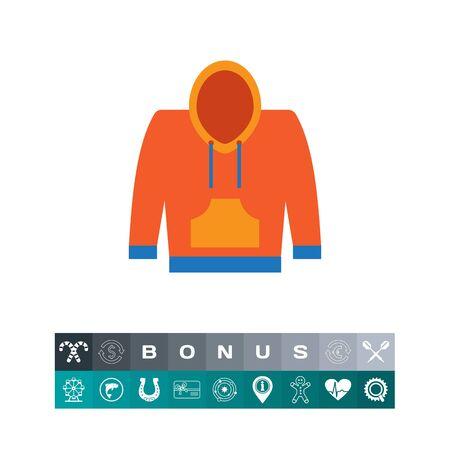 sweatshirt: Hoodie sweatshirt icon Illustration