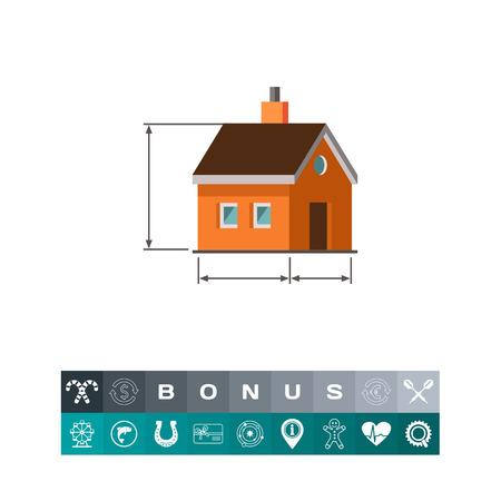 House scheme icon Illustration