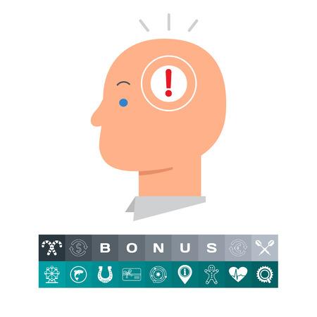 Idea in head illustration.
