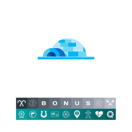 Igloo Concept Icon illustration.