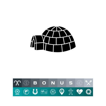 Igloo simple icon illustration. Illustration