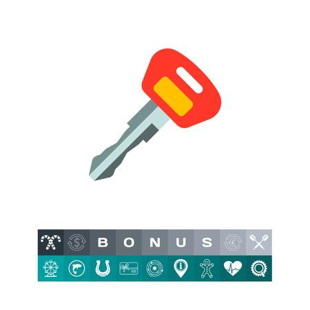 Ignition key icon illustration. Vetores