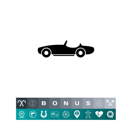 prestige: Car without roof. Summer, transportation, luxury. Automobile concept. Can be used for topics like technology, fashion, transport. Illustration