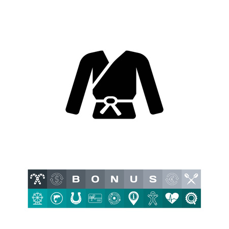 sleeve: Vector icon of karate kimono with belt