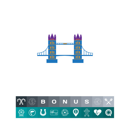 london tower bridge: London Bridge icon Illustration