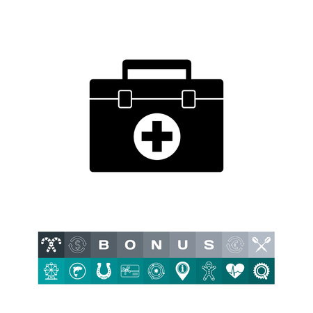 case: First Aid Case Icon Illustration