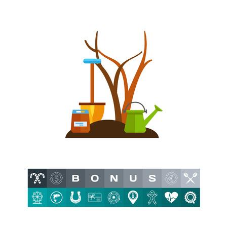 Seedling fruit tree icon Иллюстрация