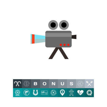 film industry: Shooting camera icon