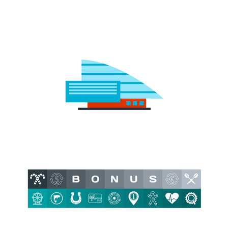 Shopping mall building icon