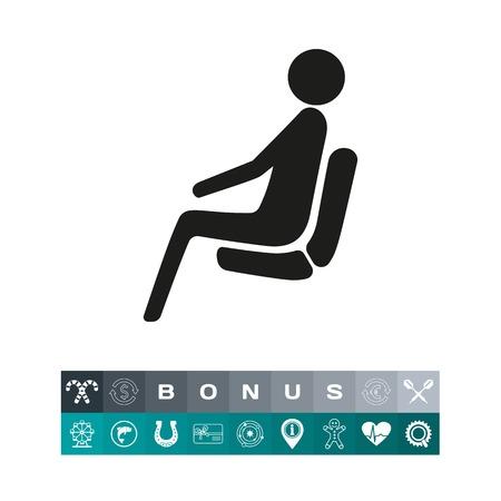 Sitting passenger  icon