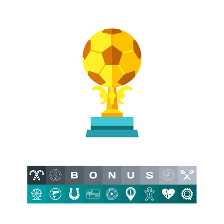 Soccer Trophy Vector Icon