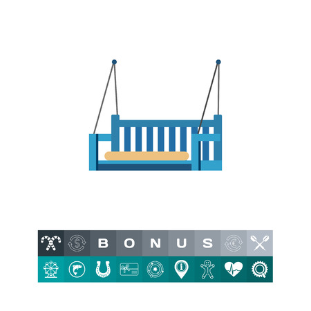 veranda: Swing Bench Icon