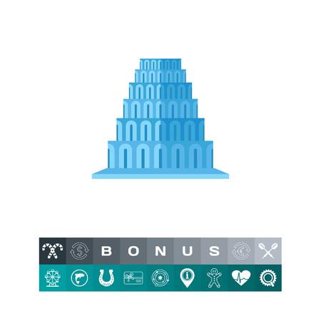 바벨탑 벡터 아이콘 그림입니다.