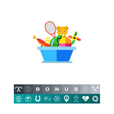 Toy box vector icon