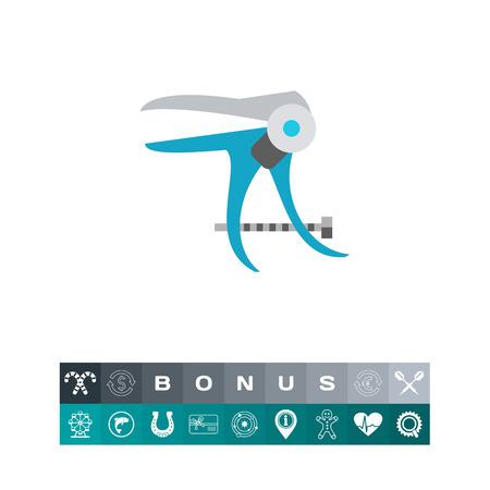 speculum: Vaginal speculum vector icon