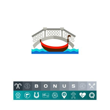 venice: Venice cityscape icon Illustration