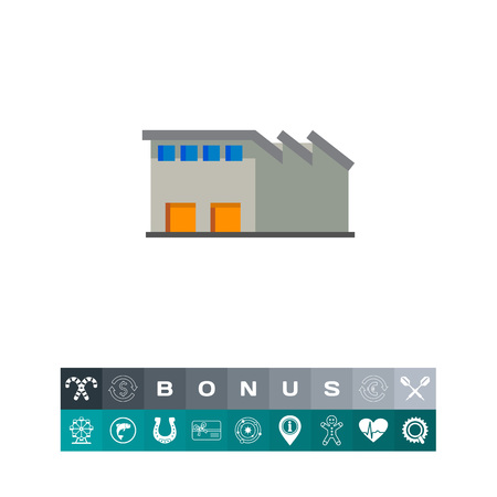 warehouse building: Warehouse vector icon Illustration
