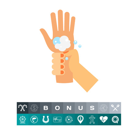Hand washing wrist. Clean, soap, habit. Washing hands concept. Can be used for topics like hygiene, health, healthcare.