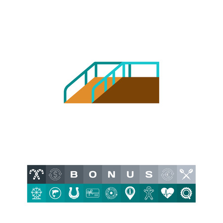 Rolstoel ramp pictogram