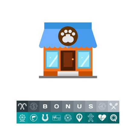 Store building icon Illustration
